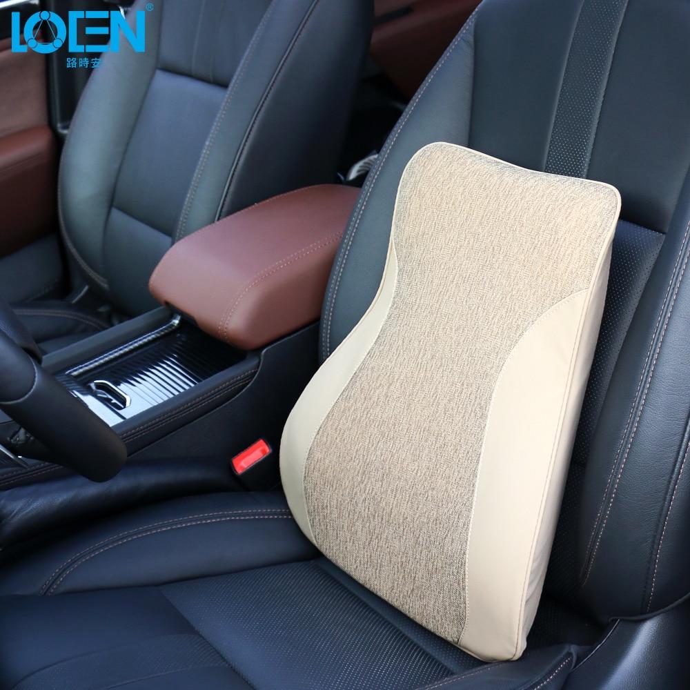 Loen Memory Foam автомобилей поясничного Поддержка для офиса стул Чехлы для автомобиля сиденья авто Поддержка Универсальный заднем сиденье автом...