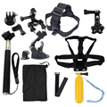 13 en 1 gopro go accesorios pro set para gopro hero 4 3 + 3 2 sj4000 sjcam sj5000 sj6000 sj7000 xiaomi yi wifi cámara de la acción de juego
