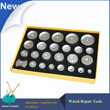 25pcs Set Aluminum Watch Case Press Dies 14mm 42mm 25 Size Watch Back Press Dies For