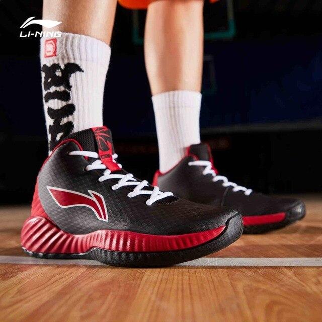 Li Ning Uomini di COMBATTIMENTO Sul Campo Da Basket Scarpe Da Indossare TUFF RB Medio Taglio Fodera Scarpe Sportive di Fitness Scarpe Da Ginnastica ABPP005 SJFM19