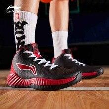 أحذية رجالي من Li Ning للعب كرة السلة يمكن ارتداؤها ببطانة متوسطة القطع لممارسة الرياضة واللياقة البدنية أحذية رياضية ABPP005 SJFM19