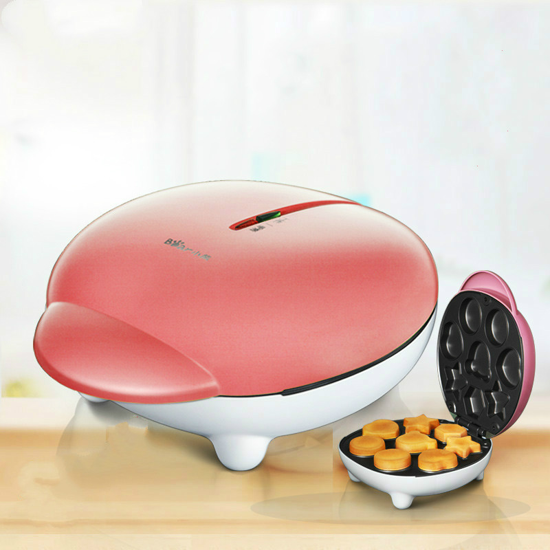 Household Cute Cake Maker Machine 600W 8 Moulds Easy Automatic Electric Double-sided Baking Pan Waffle Maker Toaster стоимость