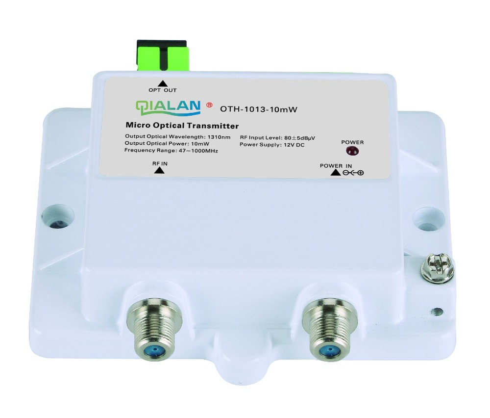 Mini Micro Optical Transmitter 1013-10mW FTTH 12V DC 1310nm 1550nm CATV With SC APC Transmitter