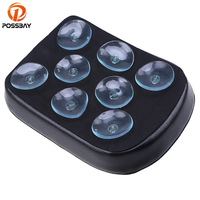 PU 8 Suction Cups Pillion Motorcycle Seat Rear Passenger For Harley Cruiser Prince Cafe Racer Seat Custom Chopper Bobber Seats