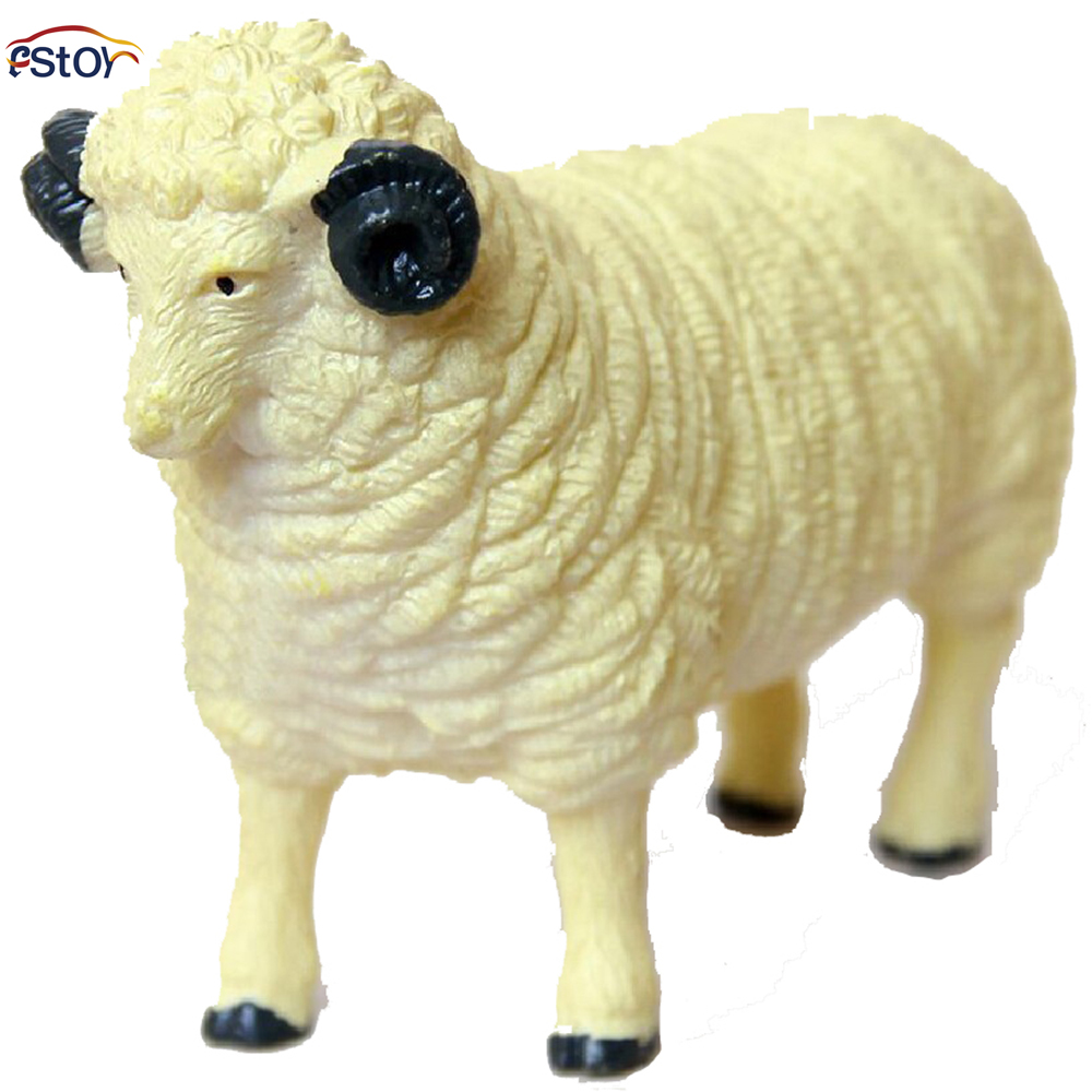Animal Toys For Boys : Sheep farm animals action figures model pvc palaeobios