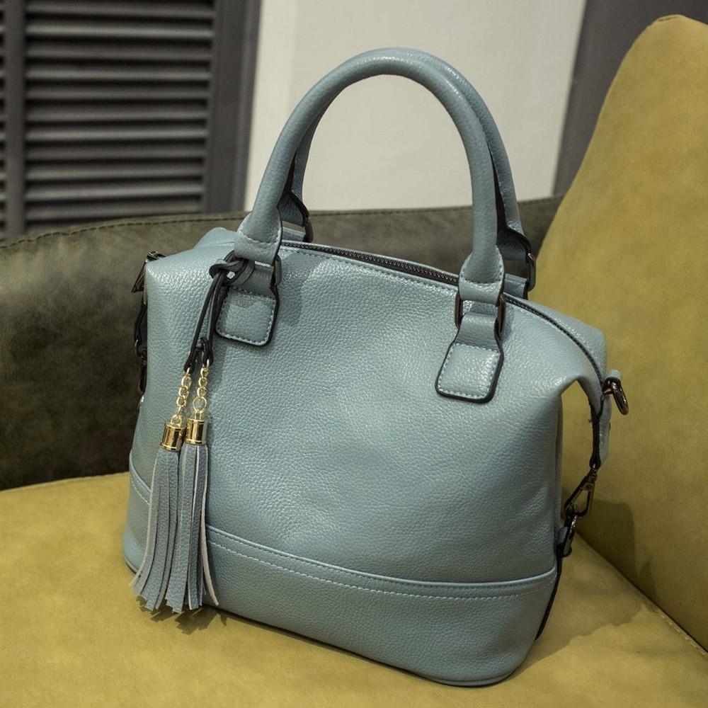 2018 Tassel Style women messenger bags high quality pu leather tote shoulder handbags retro summer bag for ladies bolsa QF13