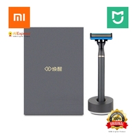 Xiaomi Original Mijia Men Shaverr Razor Lemon Flavor 3 In 1 Sets Magnetic Replace The Clip