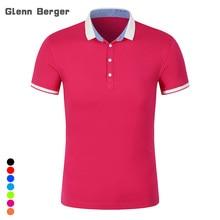 GLENN BERGER Women Polo shirt Summer Brand Solid golf Polo Women Shirt Slim SilK Cotton Short Sleeve femme Casual Shirts tops