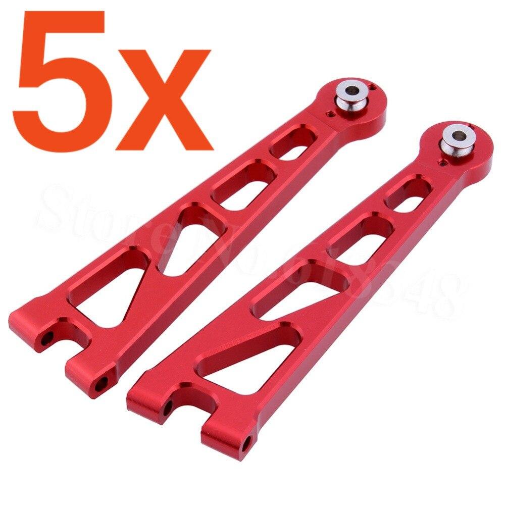5 Pairs/Lot Alum Front Upper Susp Arm A-Arms (L/R) For 1:10 Electric Himoto E10XT E10XTL E10MT E10MTL Upgrade Parts 33601G 31602