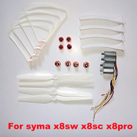 SYMA X8SW X8SC X8PRO X8 Pro Spare parts Motor Engines Propellers Landing skid Protective Ring Fixed Kits
