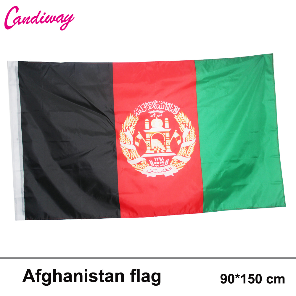 <font><b>Afghanistan</b></font> Flag 3x5 ft Banner Afghan Afghani Kabul 90*150cm Hanging Office/Activity/parade/Festival/Home Decoration New fashion image