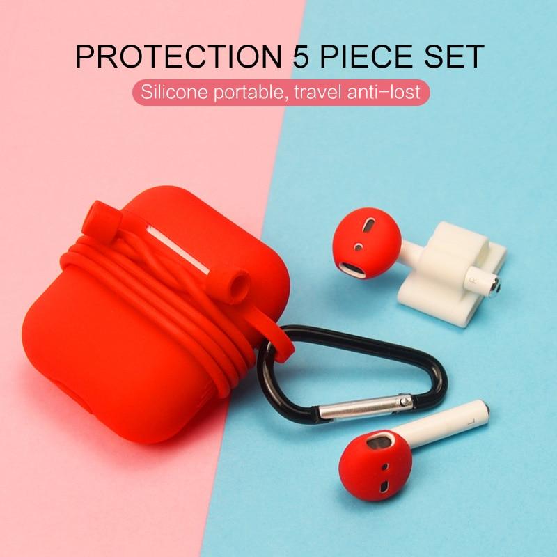 16 Stks/set Voor Airpods Apple Oordopjes Oortelefoon Accessoires Beschermhoes Siliconen Draadloze Bluetooth Oortelefoon Case