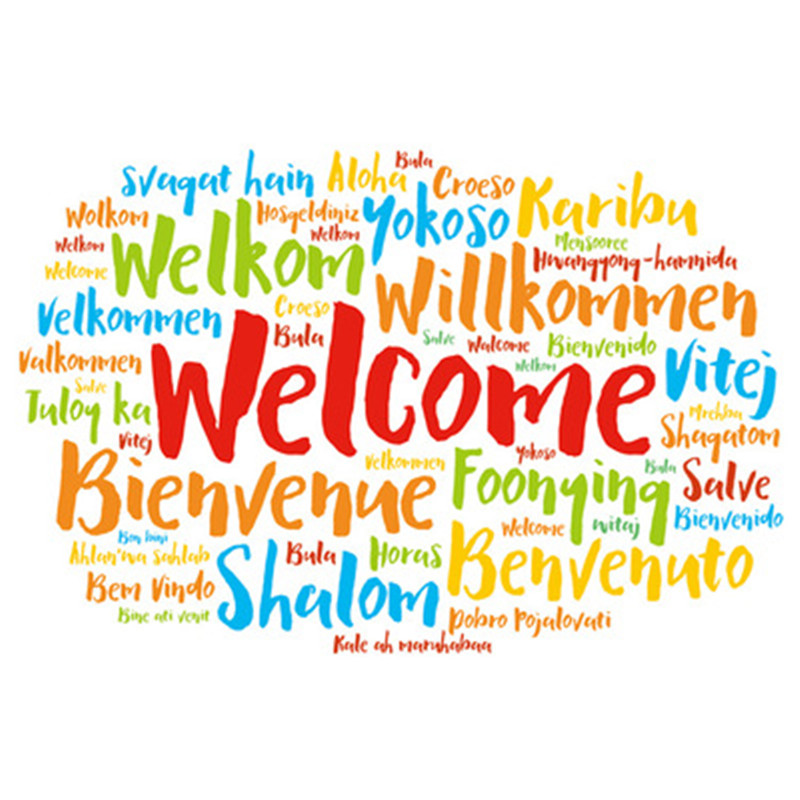 Welcome Words Family Quote Wall Decal Home Decor Vinyl Quote Wall Sticker Shop Company Office Wall Stickers Pegatinas De Pared