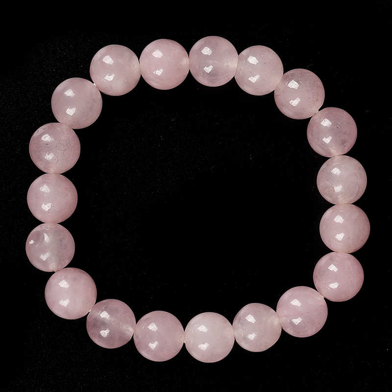 10  MM  Natural  and Lovely  pollution - free  Pink  cute  rose quartz  Bracelet   Necessary  gifts  for  double  eleven .