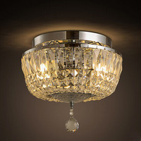 Новый k9 кристалл современный блеск led Потолочные светильники страна Освещение в помещении приспособления для кафе дома Освещение lamparas де