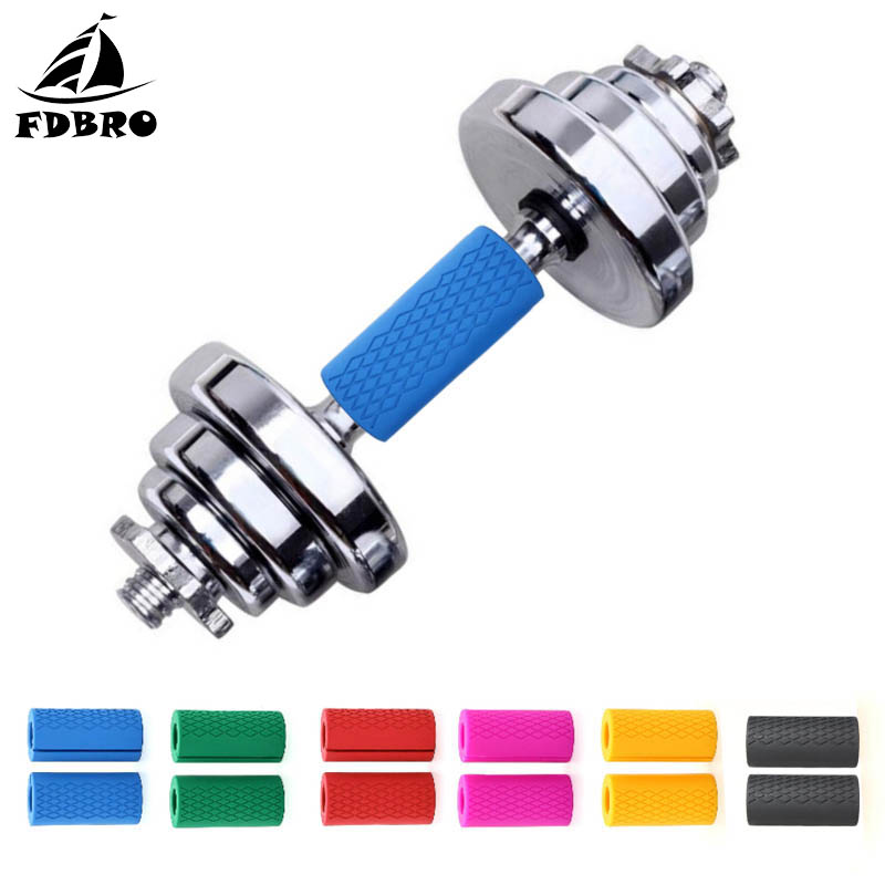 Fitness & Body Building Dayup 1 Pair Silicone Barbell Grips Dumbbell Fat Grip Thick Bar Handles Pull Up Weightl Lfting Support Anti-slip Protect Pad Convenience Goods
