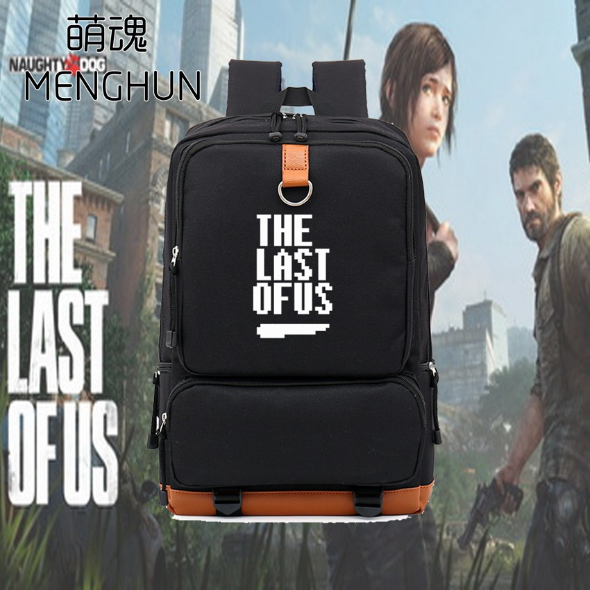 The last of US new design 8 bit words printing The last of us game concept gift backpack for game fans school bag nb100 худи print bar the last of us