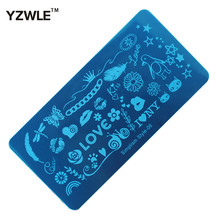 1 Sheet 6x12cm Simplism Style Stainless Steel Stamping Nail Art Image Plate Polish Manicure Stencil Tool