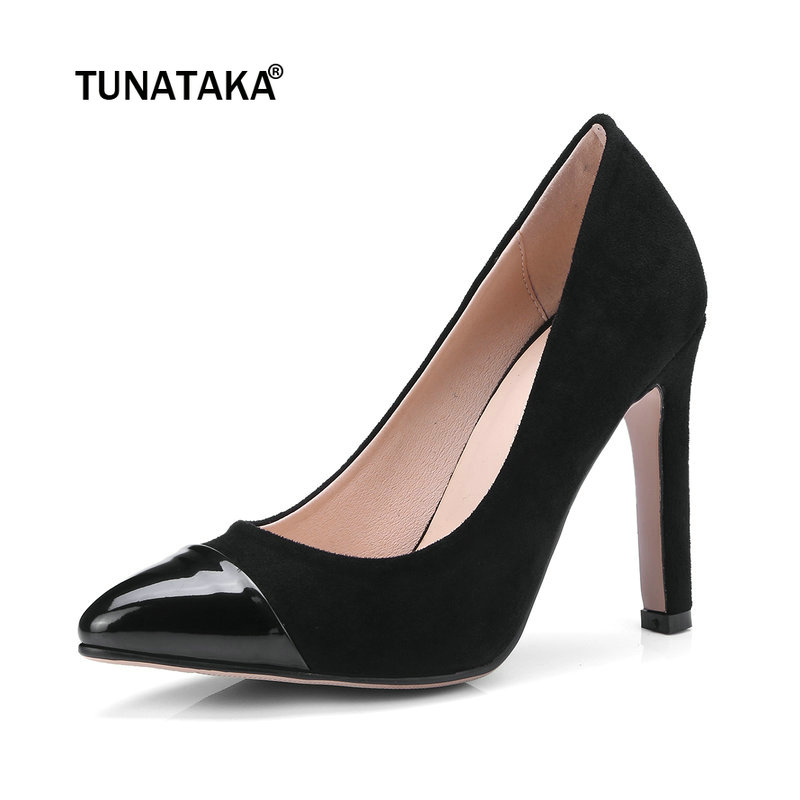 Flock Thin High Heels Pointed Toe Slip On Pumps Fashion Dress Party Shoes Women Wine Red Black Apricot 2017 new summer women flock party pumps high heeled shoes thin heel fashion pointed toe high quality mature low uppers yc268