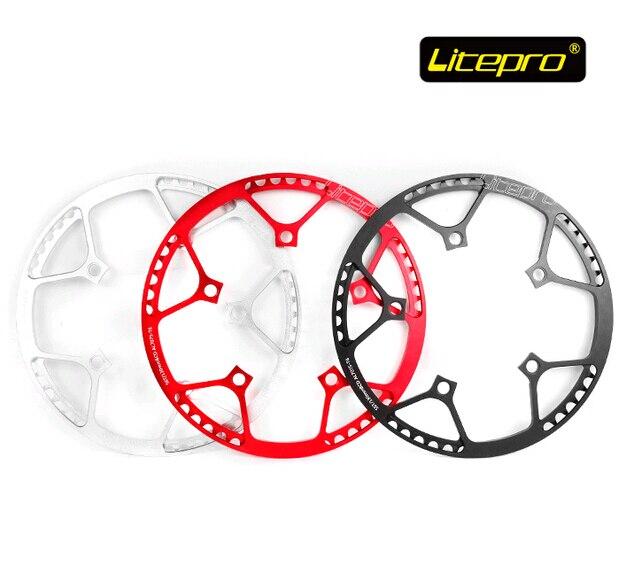 Цена за Litepro сверхлегкий 130BCD 53 Т 56 Т 58 Т A7075 Сплава BMX Звезду Складной Велосипед Chainwheel Велосипед Crankset