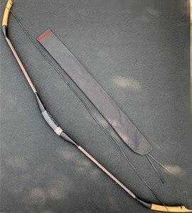 Image 2 - สีดำที่มีประโยชน์ 20 60lbs ฝึกธนูการล่าสัตว์ไม้ทำด้วยมือแบบดั้งเดิม Recurve Bow Longbow โดยมือ