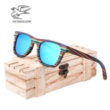 AN SWALLOW Polarized Wooden Sunglasses Men Bamboo Sun Glasses Women Brand Designer Original Wood Glasses Oculos de sol masculino