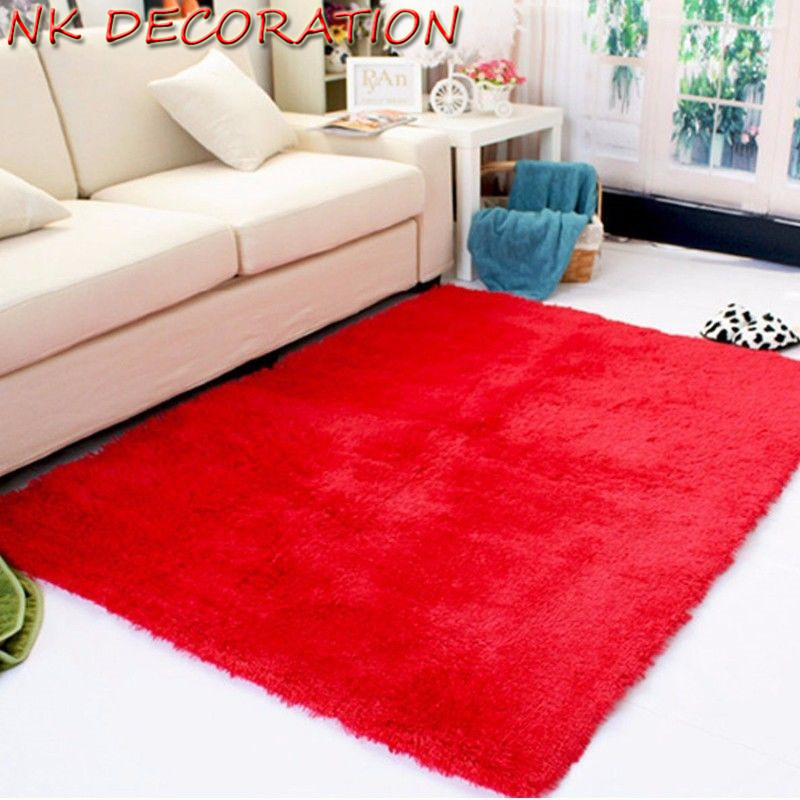 NK DECORATION Modern Style Home Carpet Red Colour Floor Carpets Rugs for  Bedroom Bathroom Living RoomOnline Get Cheap Solid Red Rug  Aliexpress com   Alibaba Group. Red Rugs For Living Room. Home Design Ideas