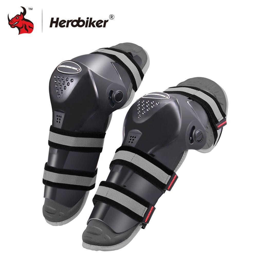 HEROBIKER Motorcycle Knee Protector Motocross Knee Protector Guard Moto Knee Brace Support Rodilleras Moto Knee Brace