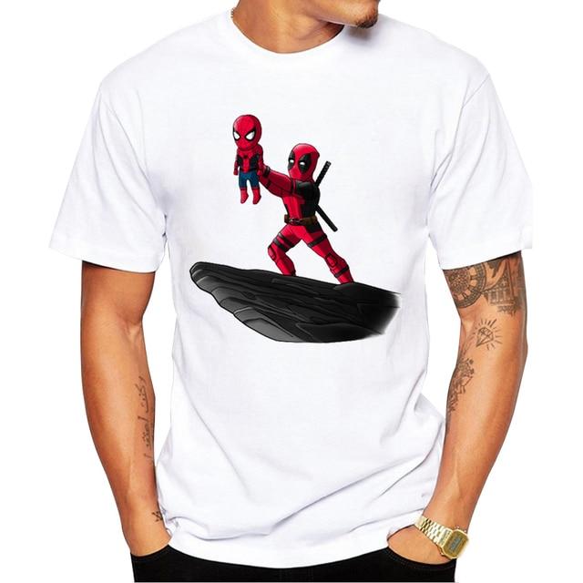 2019 Mới Nhất Deadpool Người Đàn Ông T áo sơ mi Thời Trang Tái Tạo Jackass Thiết Kế tops Các Darth Vua In T-Shirts Punk Hipster tee