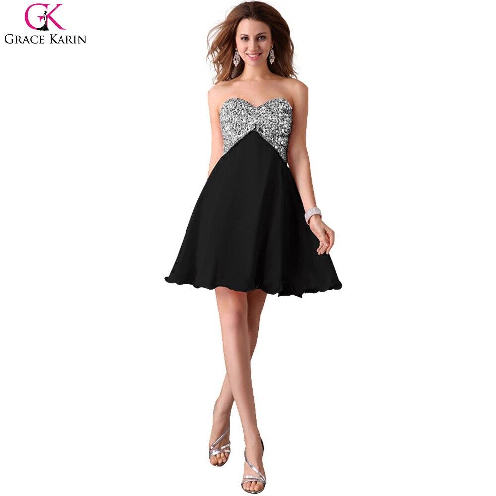 Short Cocktail Dress Grace Karin Black White Pink Formal Party ...