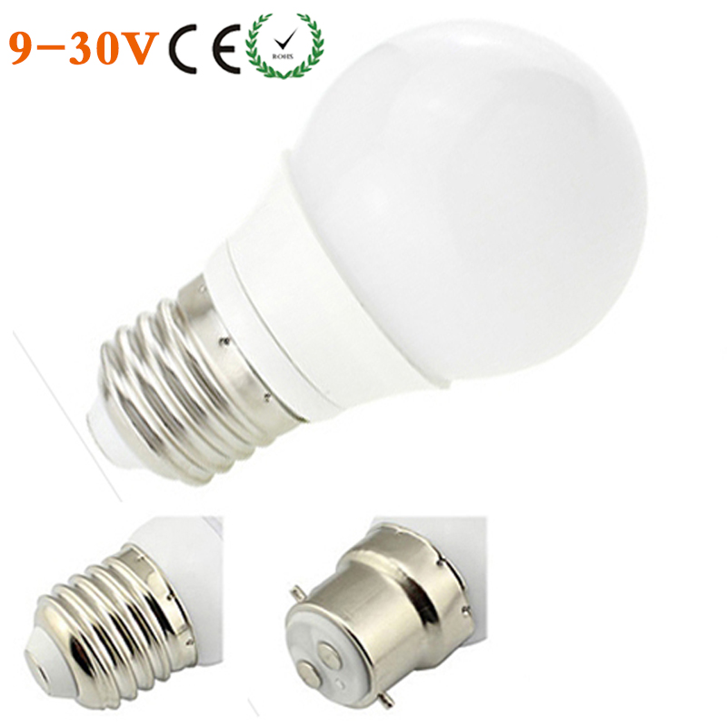 LED E27 B22 3W COB Bulb 12V 24V AC/DC LED Bombillas Lamp 9 30V LED ...