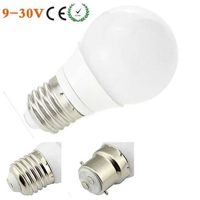 E27 B22 LED Bulb 3W 12V 24V COB LED Lamp 110V 220V 240V AC LED Home ...