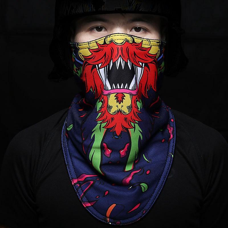 2019 Новая Зимняя Теплая Лыжная сноубордическая мотоциклетная уличная спортивная маска для лица для велосипеда сноуборд треугольный шарф Лыжная маска
