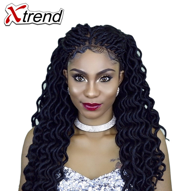 Xtrend Faux Locs Curly Crochet Braid Twist Hair 20inch 24roots
