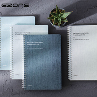 EZONE Notebook Simple Style Plain Coil Note Book For Traveler Journey Daily Diary Spiral Notepad Memo Pad Students Stationery