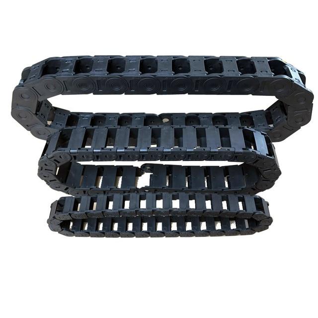 L1000mm CNC routeur machine câble glisser chaîne porte-fil outil de gravure avec connecteurs d'extrémité 7x15mm 10*10mm 10x20mm 15*30mm