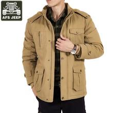 e892c3871ef8e AFS JEEP chaqueta de invierno hombres Parka gruesa caliente Fleece Parka hombres  militar chaquetas abrigo masculino forro de lan.
