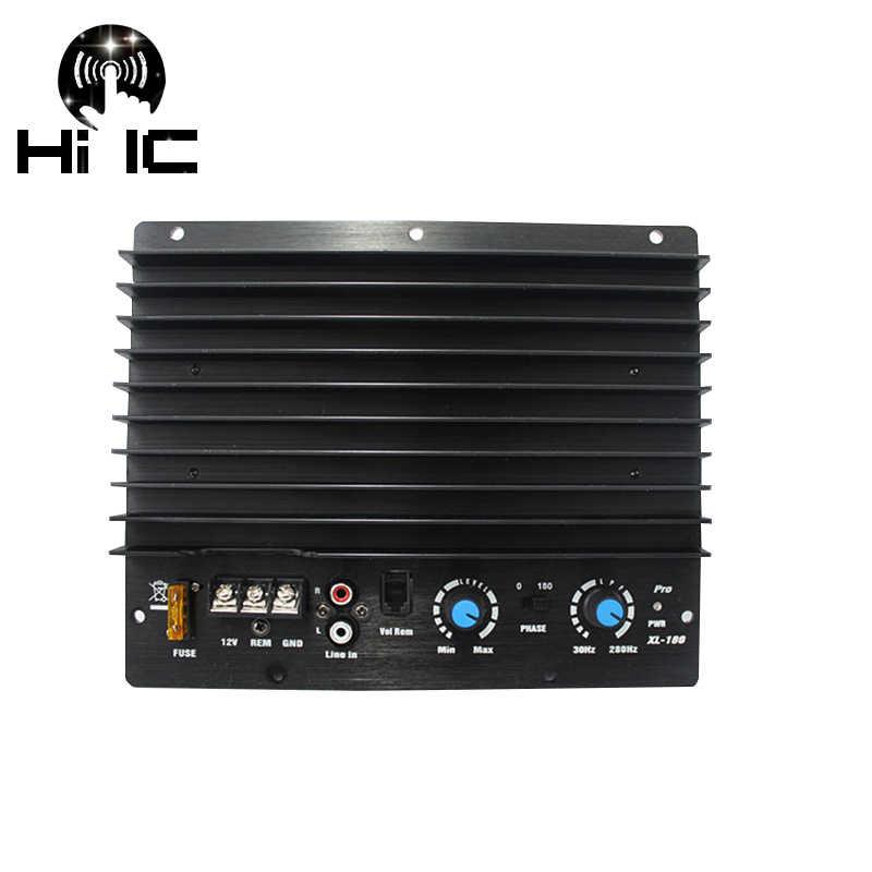 Плата усилителя сабвуфера моно автомобильные аудио усилители (трубка Toshiba Plate) 200 Вт Плата усилителя 12 В для 10-12 дюймовых динамиков
