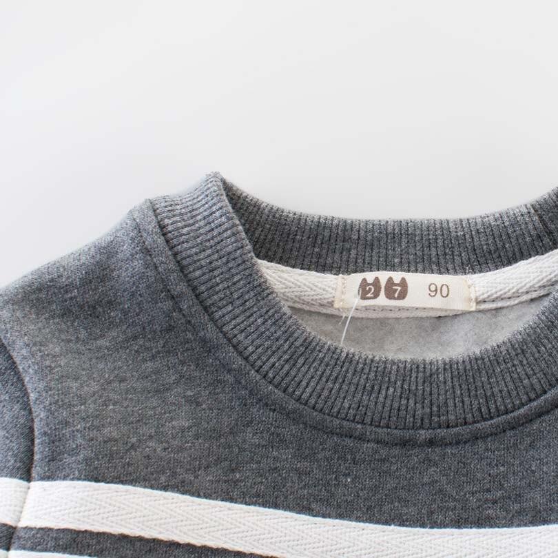 Зимние Bobo толстовка теплая детская одежда с длинным рукавом Футболки для маленьких мальчиков плотные толстовки Одежда для детей #от 1 до 10 л...