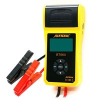 Car Battery Tester Digital automotive Diagnostic tool 12V Battery analyzer with Thermal Printer Cranking Charging Tester BT660