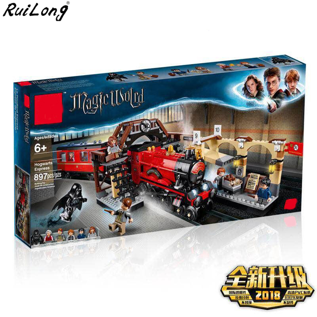 New Harry Magic Potter Hogwarts Express Train Compatible with legoingly Harry Potter 75955 Building Blocks Bricks Christmas Toys