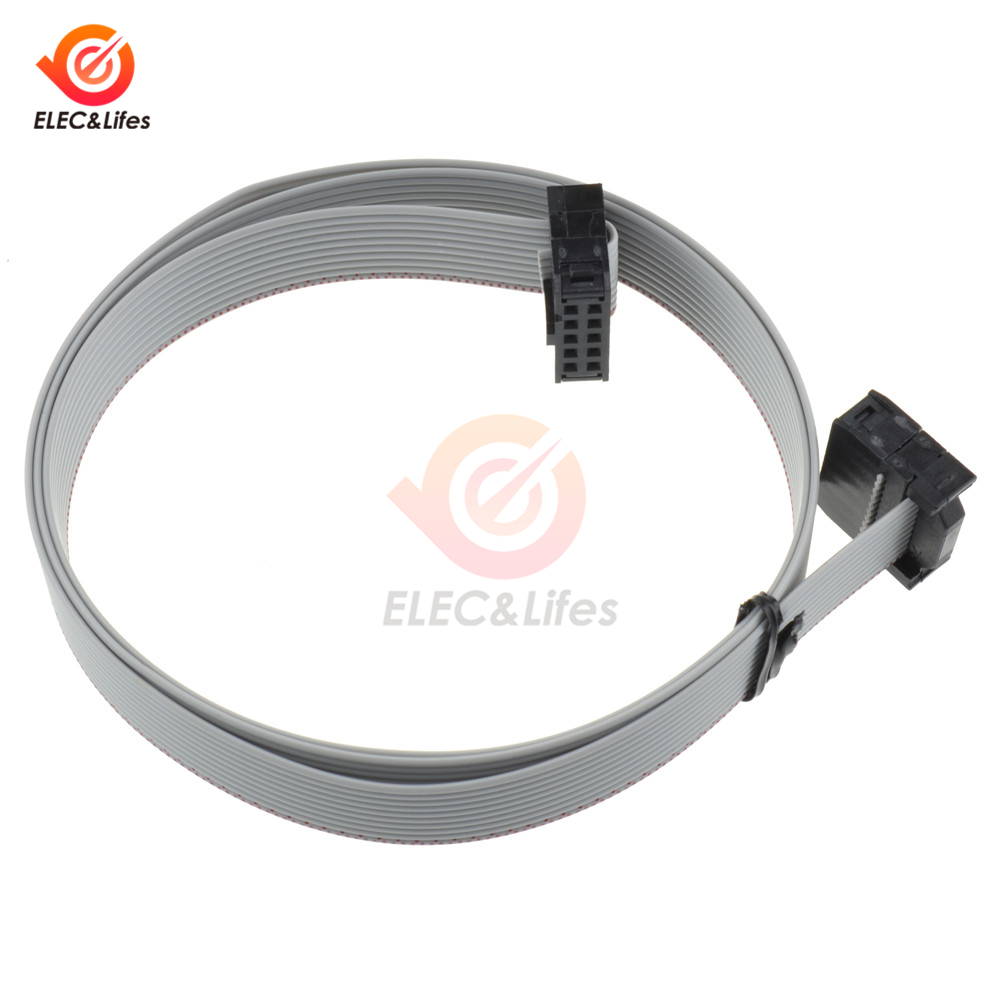 2Pcs 70CM <font><b>10</b></font> <font><b>Pin</b></font> 2.54mm Connector <font><b>Cable</b></font> For USB ASP ISP JTAG AVR Wire 10P IDC <font><b>Flat</b></font> Ribbon DATA <font><b>Cable</b></font> 10pin image
