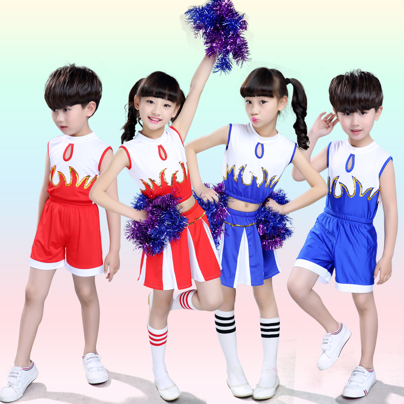 New Childrenu0026#39;s Cheerleading Costumes Boys And Girls Aerobics Children Primary School Students ...