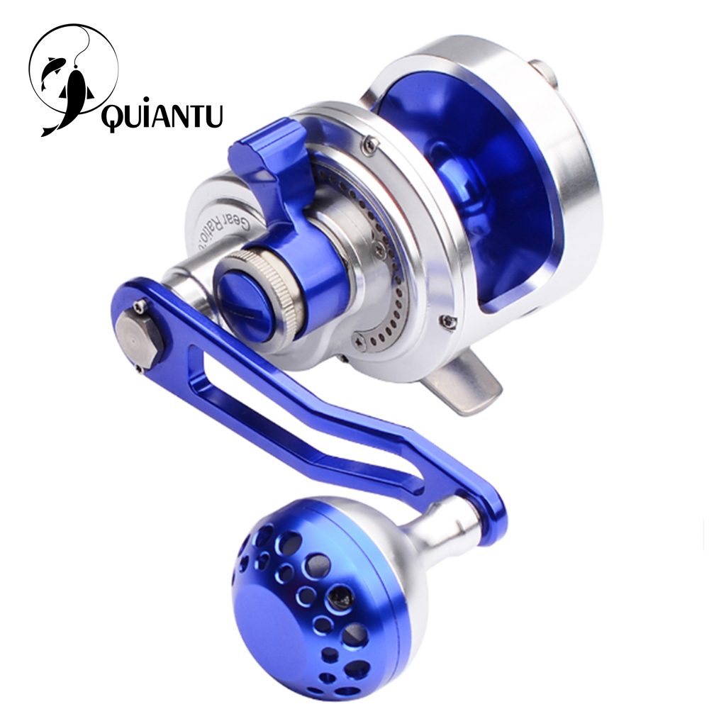 QUIANTU New PRO Fishing Reel Trolling Roll Aluminum CNC Milled 200-500 Series Fishing Sea Reel Max Drag 14kg-21kg Jigging Reel
