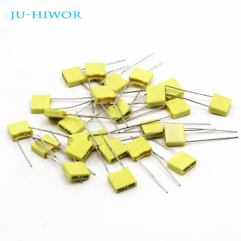 50pcs Correction Capacitor 0.01 <font><b>0.022</b></font> 0.1uf 104J 100V 5% Tolerance Metallized Polyester Film Capacitor 10 220 1000nF image