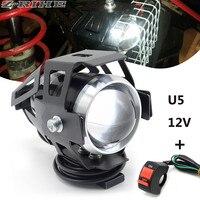 Scheinwerfer U5 Wasserdichte Fahren Spot Kopf Lampe Nebel Licht Schalter Für Kawasaki Ninja 300 250 EX300 Z300 NINJA Z250 Z750 z800 Z1000