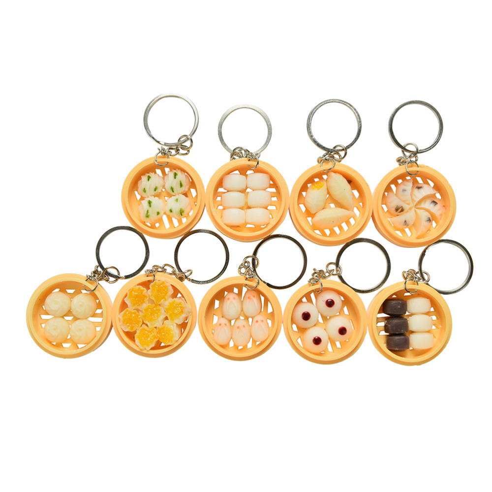 1pcs Simulation Food Pendant Key Ring Novelty Key Chain Christmas Birthday Gift Cute Simulation Food Keychain Clear And Distinctive Key Chains