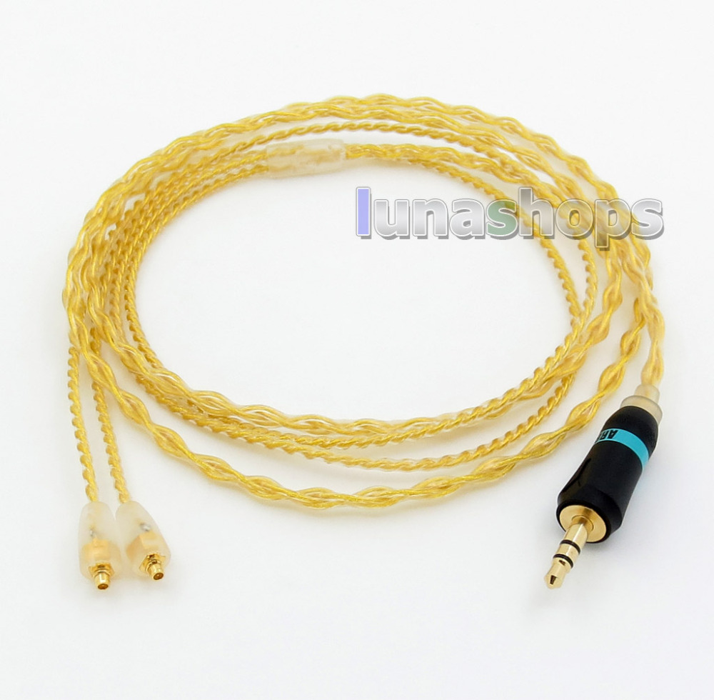 6N OCC Gold Plated MMCX Cable For Shure SE215 SE315 SE425 SE535 SE846 Headphone Earphone l shape 3 5mm 16 cores occ silver plated mixed headphone cable for shure se215 se315 se425 se535 se846