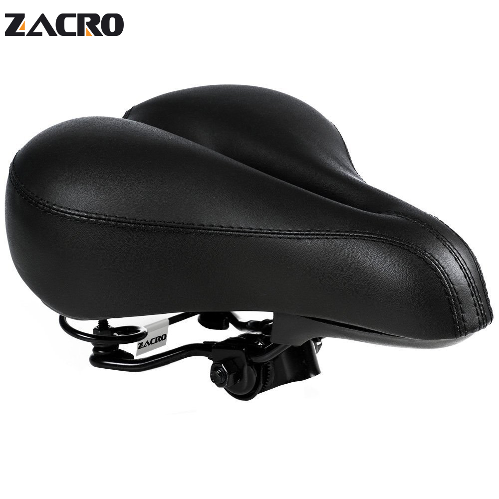 Zacro Bicycle Seat Imitation Leather Carbon Saddle Bicycle Chair Soft Comfortable Bike Accessories Parts For Mtb Road Bike