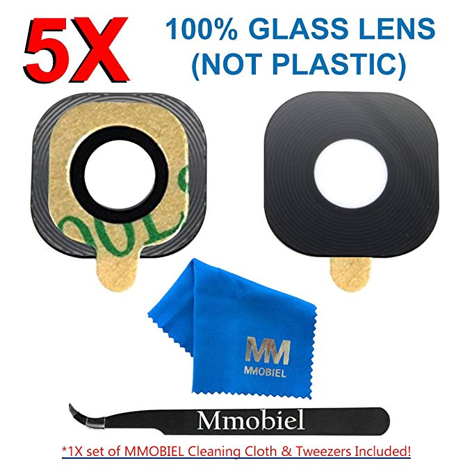 MMOBIEL Pack of 5 Back Rear Camera Glass Lens Replacement + Pre-installed Adhesive +TWEEZER for Samsung Galaxy S7 G930 / S7 EdgeMMOBIEL Pack of 5 Back Rear Camera Glass Lens Replacement + Pre-installed Adhesive +TWEEZER for Samsung Galaxy S7 G930 / S7 Edge